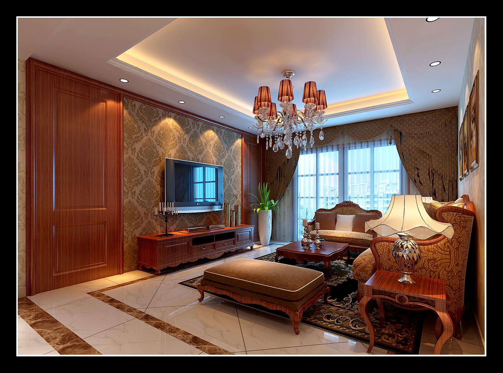 【中央广场】吴先生欧式风格客厅效果图